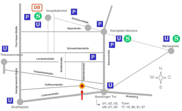 Map with public transportation